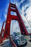 Truck and Golden Gate Bridge Tower View
