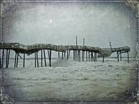 Frisco Fishing Pier in Storm