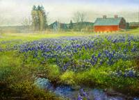 red barn blue bonnets