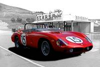 1961 Ferrari TR61 Rosso Corsa at Sears Point