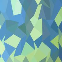 Lime Green Pastel Blue Abstract Low Polygon Backgr