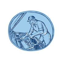 Auto Mechanic Automobile Car Repair Etching