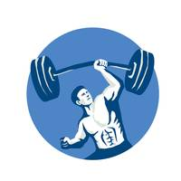 Strongman Lifting Barbell One Hand Stencil