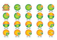 Pie Chart Lime-Orange Glow pack