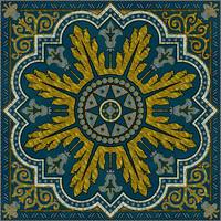 Blue and Gold Star Point Deco