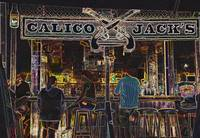 Calico Jacks-Abstract Photo of a beach Bar on Gran