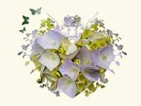 Purple & Yellow Hydrangea Heart