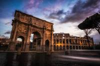Morning in Colosseum
