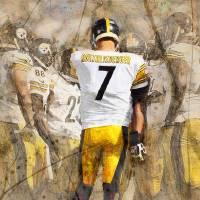 """""""Steelers Huddle Up"""" by Big88artworks"""