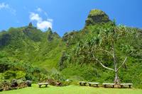 Limahuli Gardens - sit and enjoy the view!