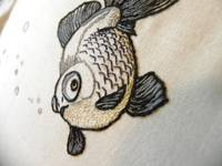 Black Goldfish Embroidery
