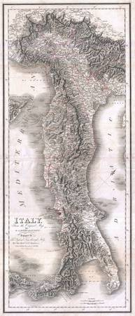 Vintage Map of Italy (1814)