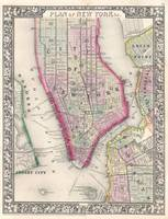 Vintage Map of New York City (1864)