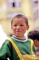 Boy Dressed Like Brazil Flag: Tibetan ?