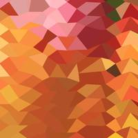 Dark Tangerine Abstract Low Polygon Background
