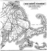 Vintage Cape Cod Old Colony Railroad Map (1875)