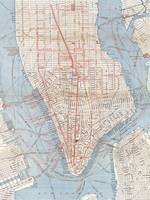 Vintage Map of Lower Manhattan (1879)