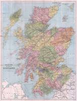 Vintage Map of Scotland (1892)