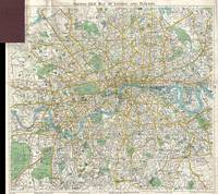 Vintage Map of London England (1900)