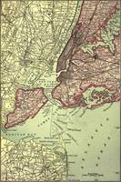 Vintage NYC and Surrounding Areas Map (1879)