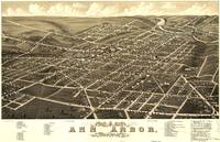 Vintage Pictorial Map of Ann Arbor Michigan (1880)