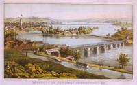 Vintage Aqueduct of Georgetown Map (1865)