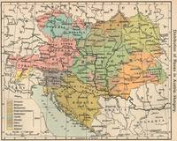 Vintage Map of Austria and Hungary (1911)