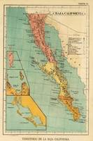 Vintage Map of Baja California (1899)