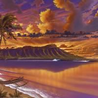 """DIAMOND HEAD SUNRISE1620costco"" by paintusmaximus"