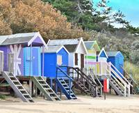 Colourful Beachhuts