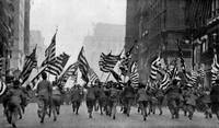 Children Running With American Flags in NYC (1917)