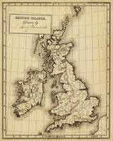 Vintage Map of The British Isles (1850)