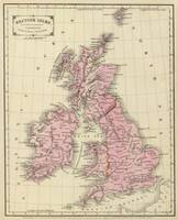 Vintage Map of The British Isles (1864)