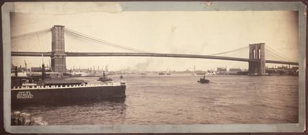 Vintage Brooklyn Bridge Photograph (1896)