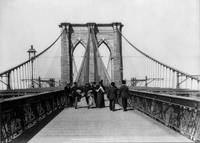 Vintage Brooklyn Bridge Crossing Photograph (1898)