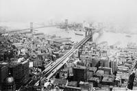 Vintage Brooklyn and Manhattan Bridge Photograph