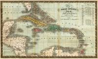 Vintage Map of The Caribbean (1834)