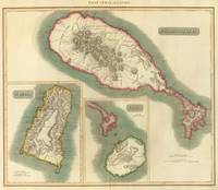 Vintage Map of Various Islands of The Caribbean