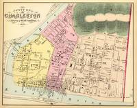 Vintage Map of Charleston West Virginia (1873)