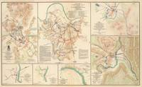 Various Civil War Battlefields Vintage Map (1895)