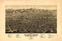 Vintage Pictorial Map of Colorado Springs (1882)