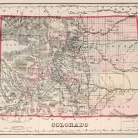 """""""Vintage Map of Colorado (1884)"""" by Alleycatshirts"""