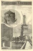 Construction of The Statue of Liberty Illustration
