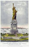 Statue of Liberty Historical Lithograph (1886)