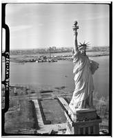 Statue of Liberty Black and White Photograph