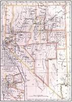Vintage Map of Nevada (1884)