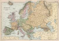 Vintage Map of Europe (1892)