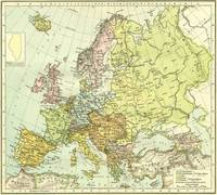 Vintage Map of Europe (1918)