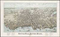 Vintage Map of Fall River Massachusetts (1877)