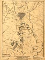 Vintage Map of The Gettysburg Battlefield (1863) 2